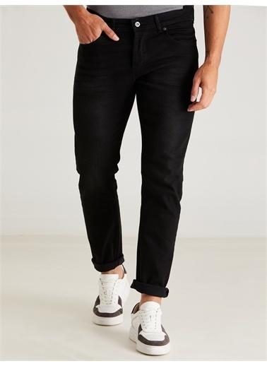 Dufy Sıyah Erkek Denım Pantolon - Slım Fıt Siyah
